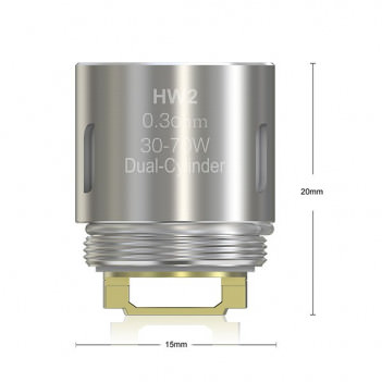 Résistances HW2 Eleaf 0,3 ohm